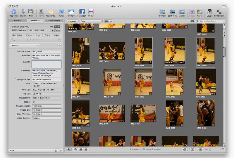 Metadata & multiple images in Aperture 3 - Michael Campanella Photography