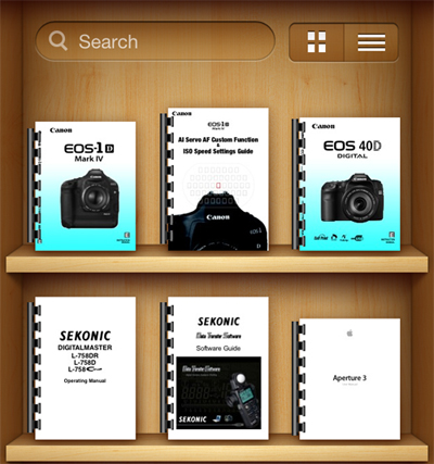 Use iBooks to store your equipment manuals