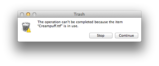 Can't empty Trash on a Mac