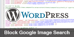 Block Google Image Search in WordPress