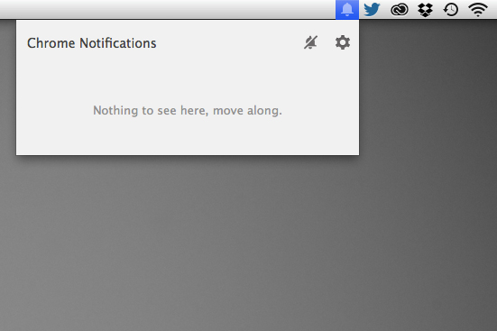 Google Chrome notification icon