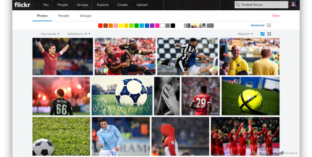 Flickr's new image search