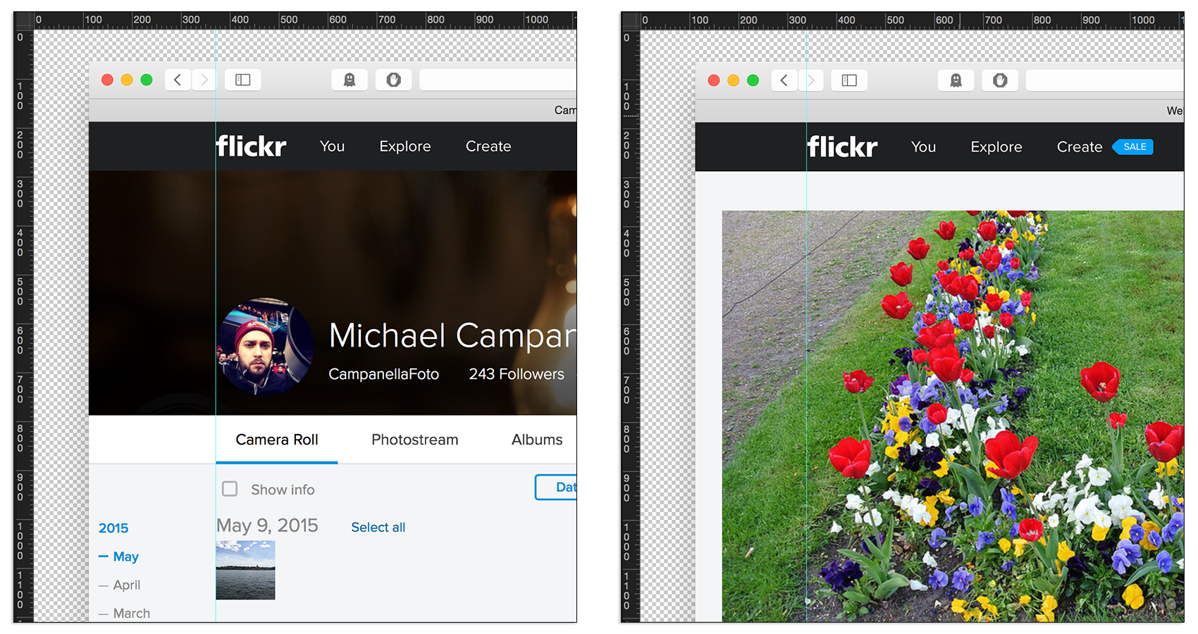 Flickr 4.0 - Menu Alignment