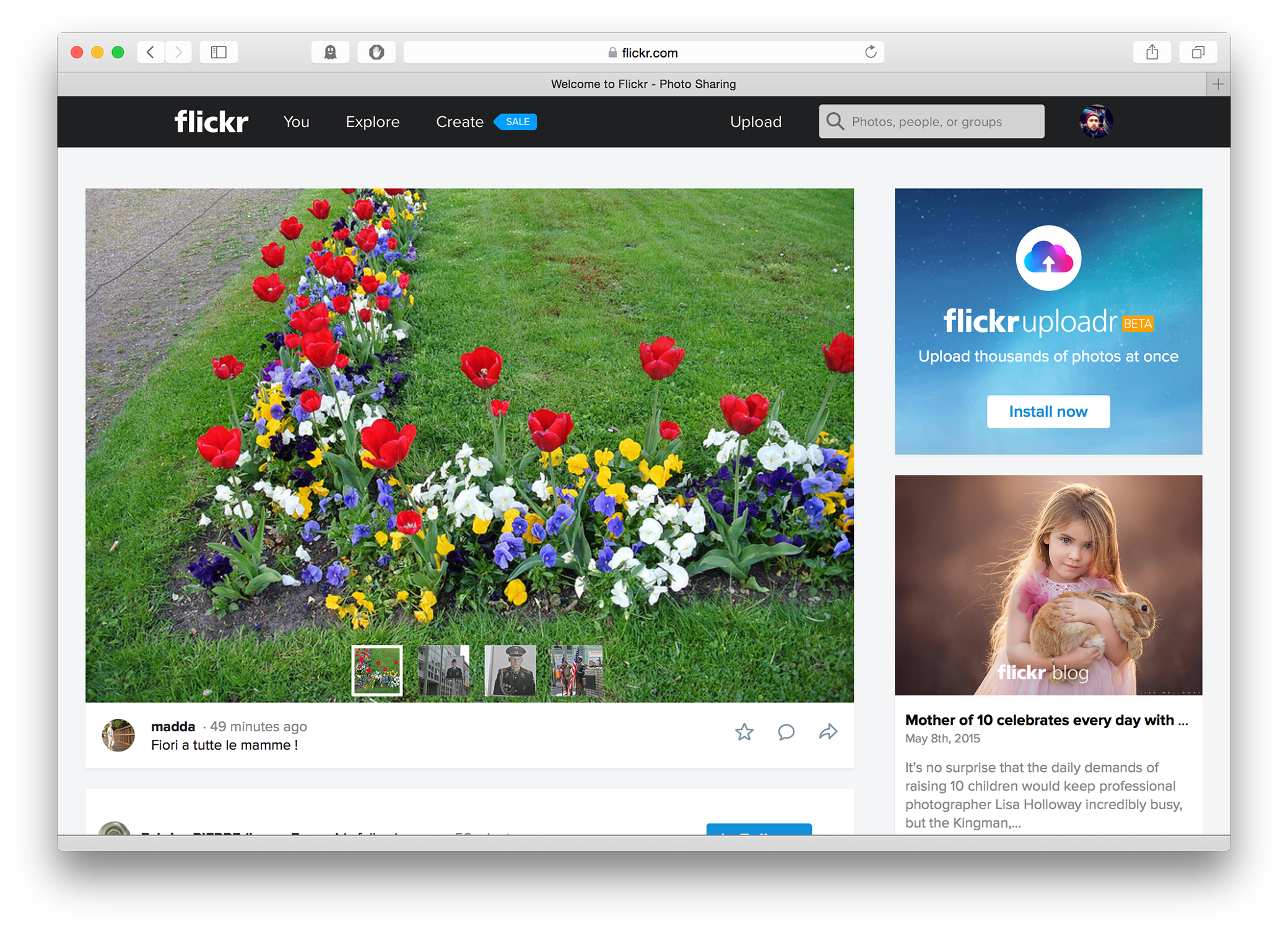 Flickr 4.0 - Main Page