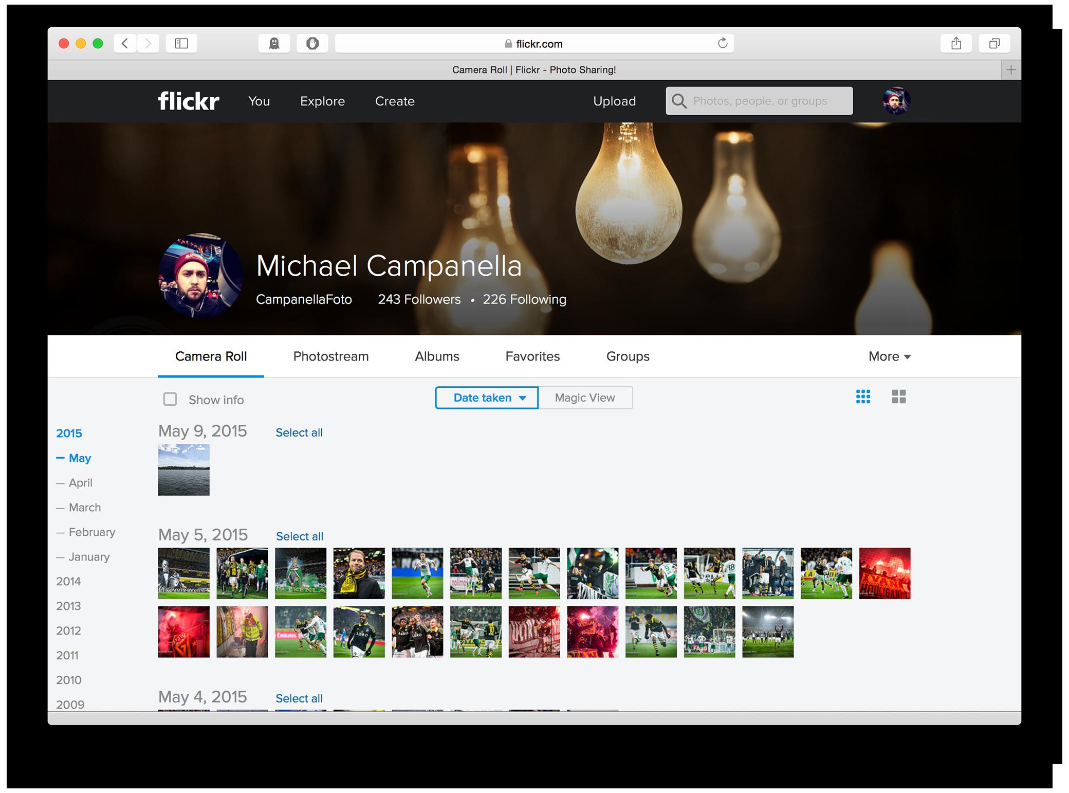 Flickr 4.0 - Camera Roll