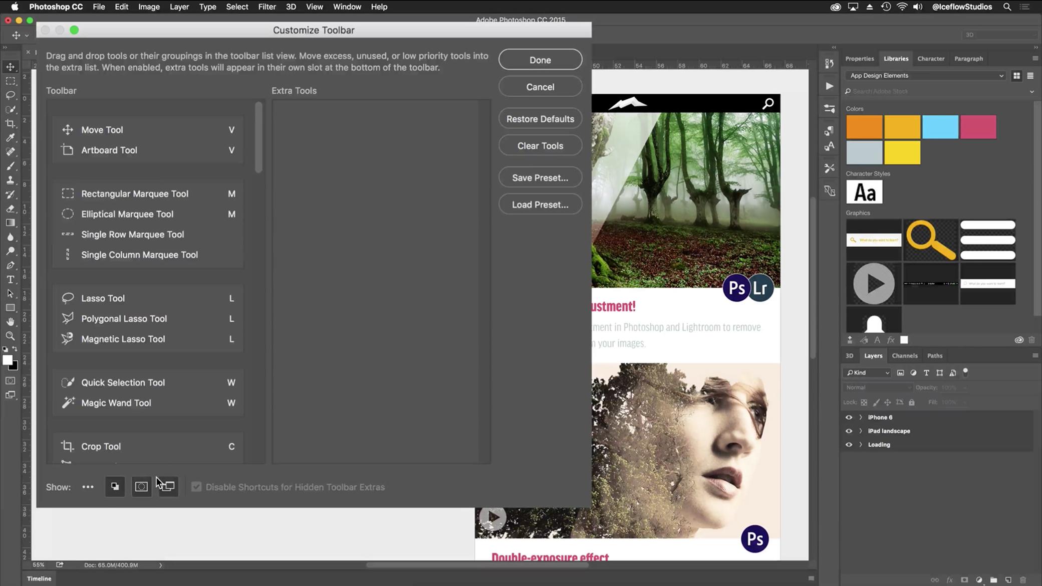Toolbar editing coming to Photoshop CC