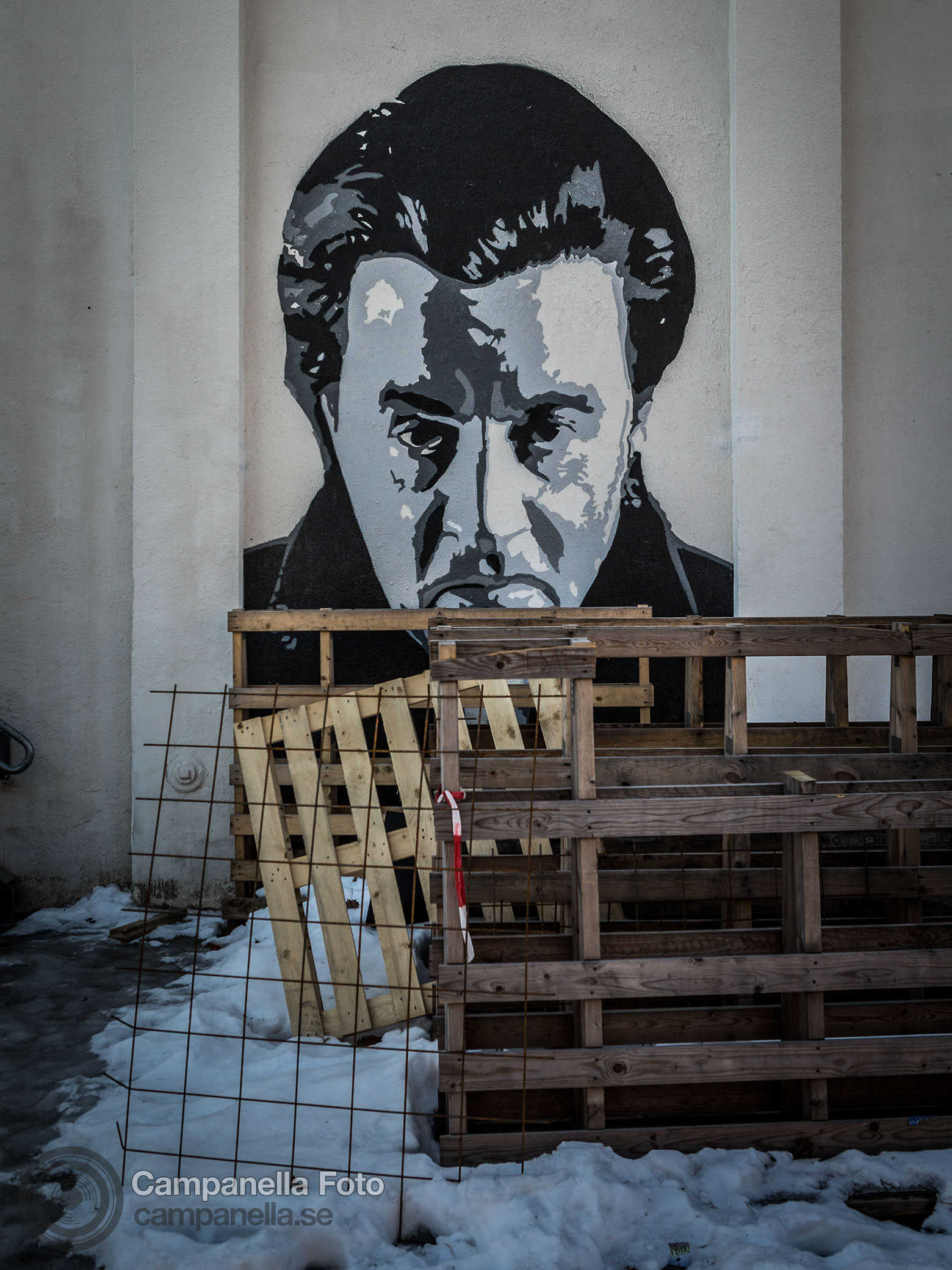 Street art mural of Steven Van Zandt