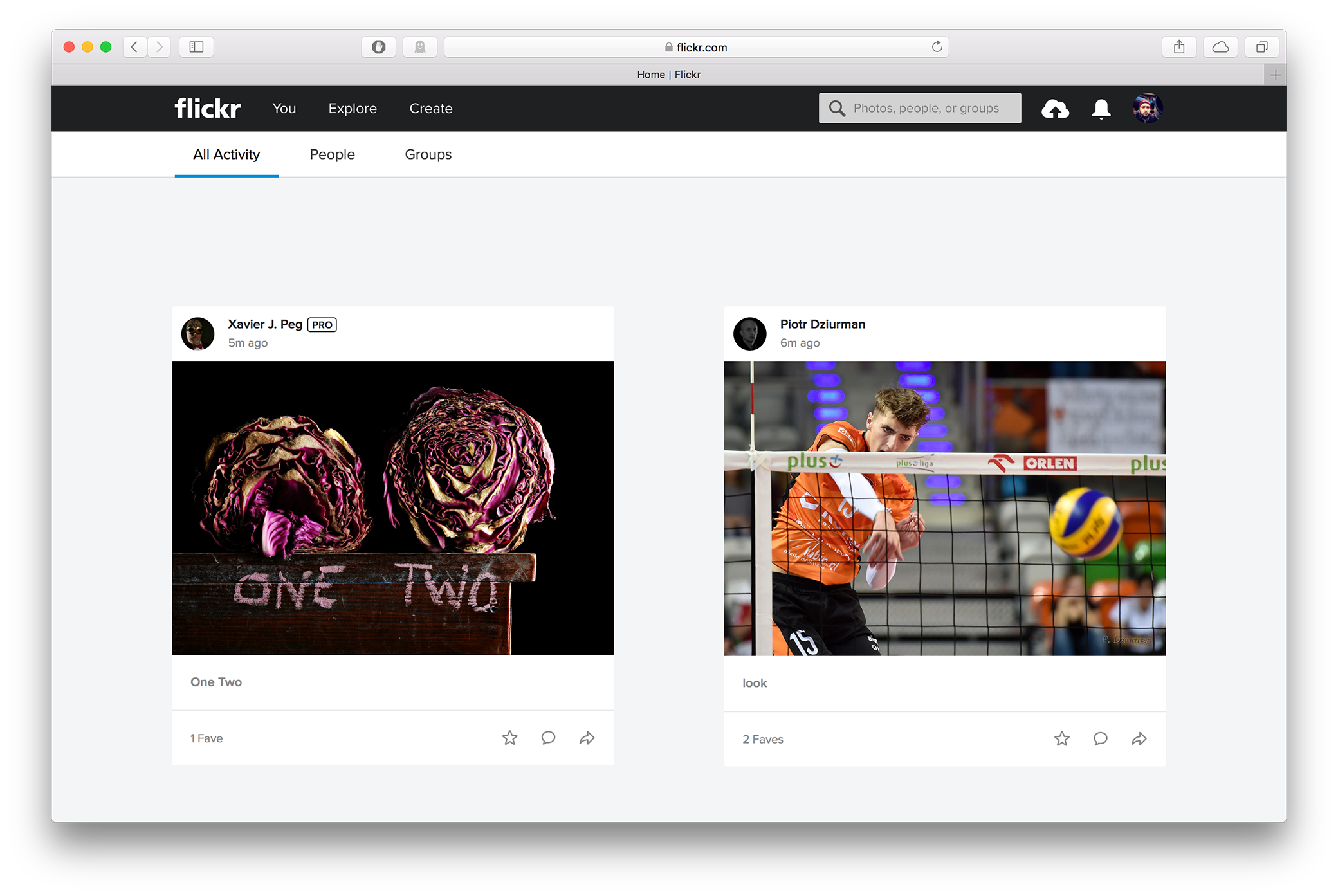 The new feed on Flickr