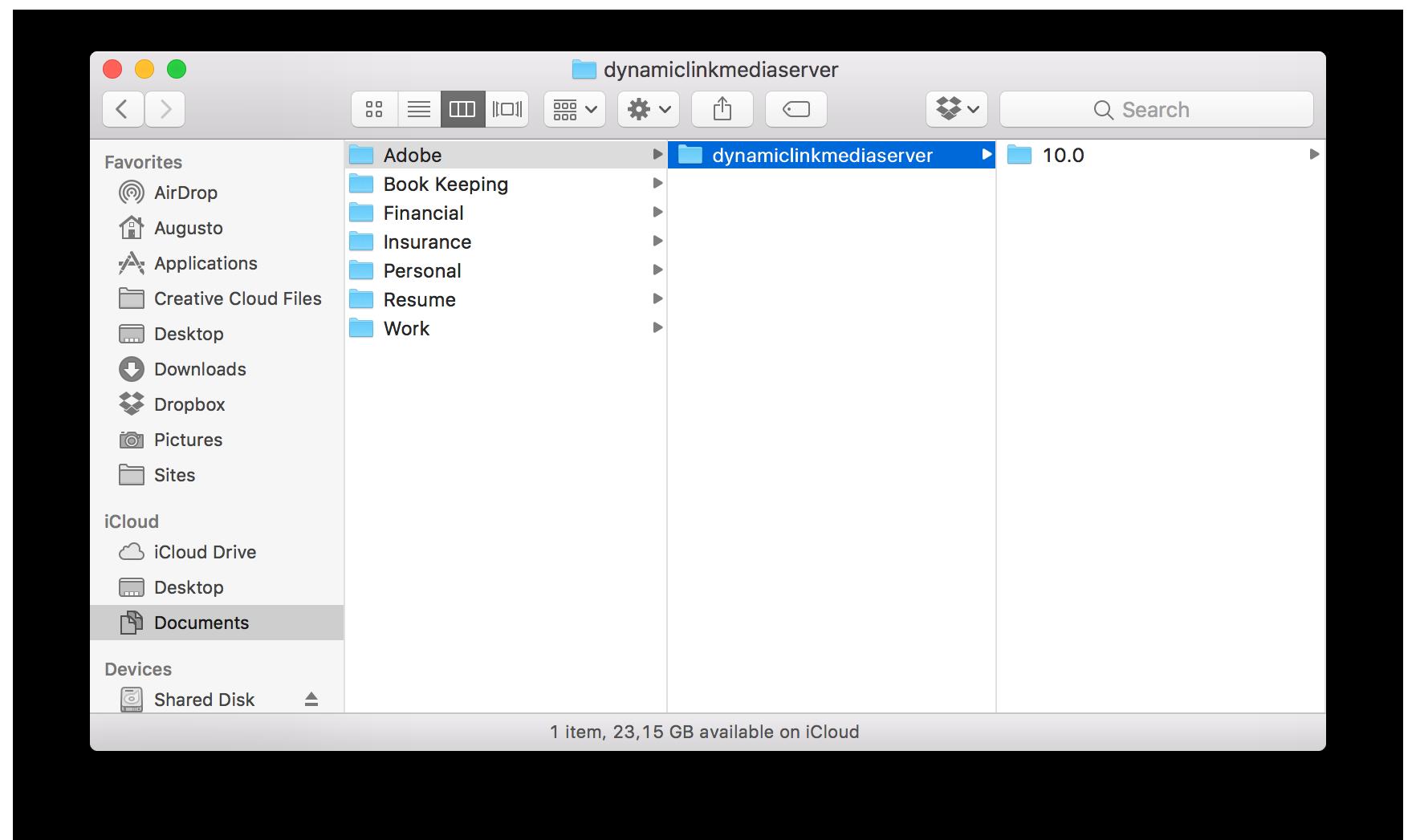 Remove dynamiclinkmediaserver folder created by Adobe apps