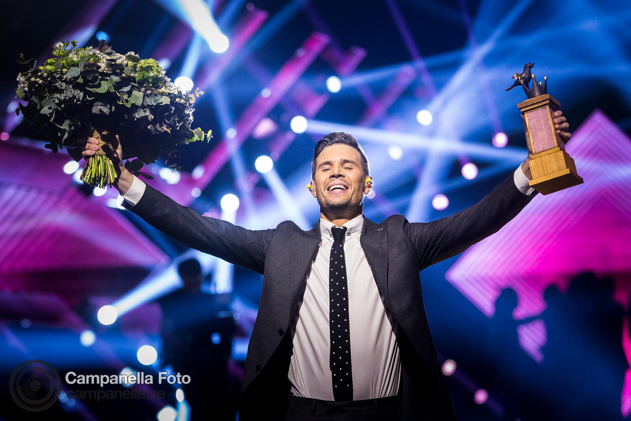 Robin Bengtsson wins Melodifestivalen 2017 - Michael Campanella Photography