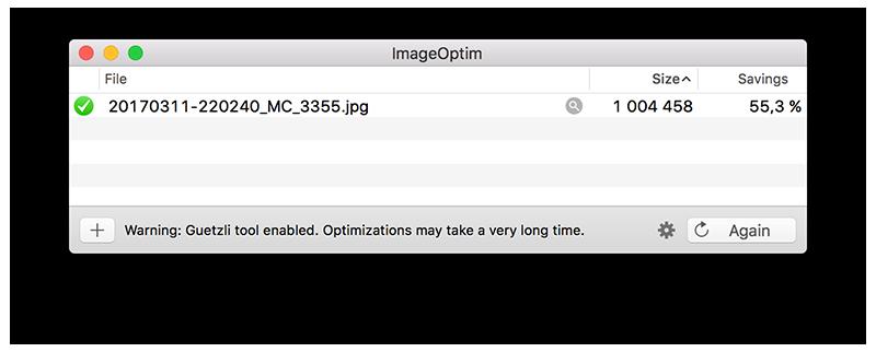 ImageOptim integrates Guetzli