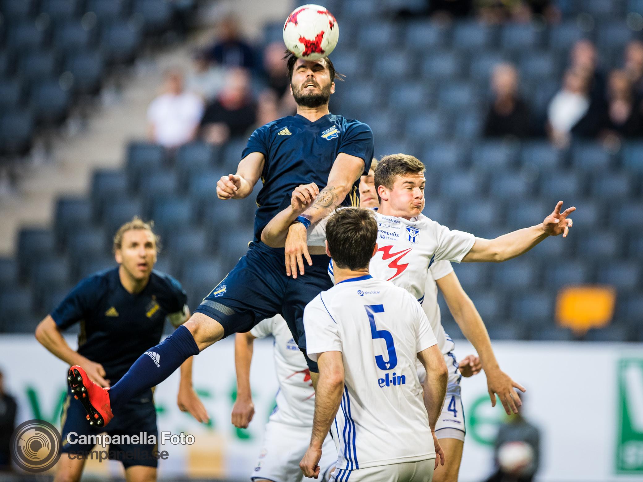 AIK crushes KÍ Klaksvík in Europa League qualification match