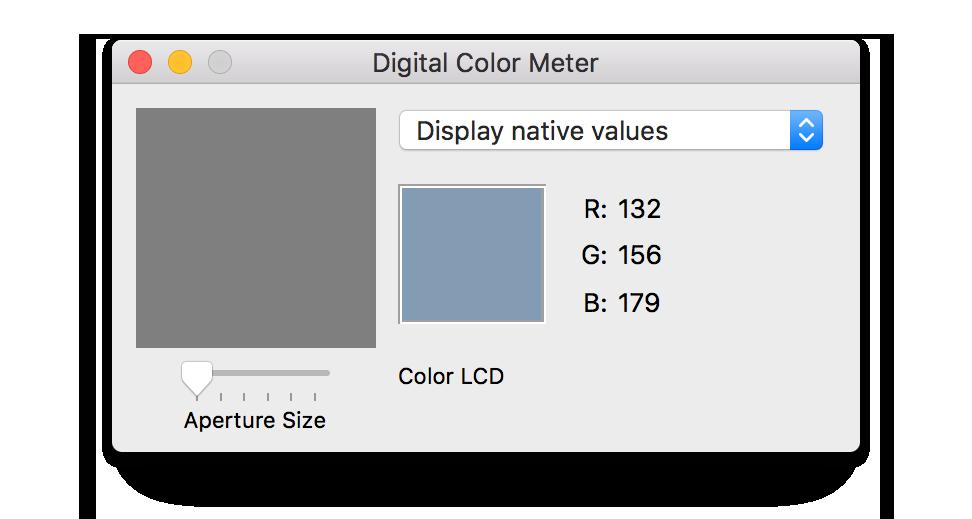 Digital Color Meter in MacOS - Michael Campanella Photography