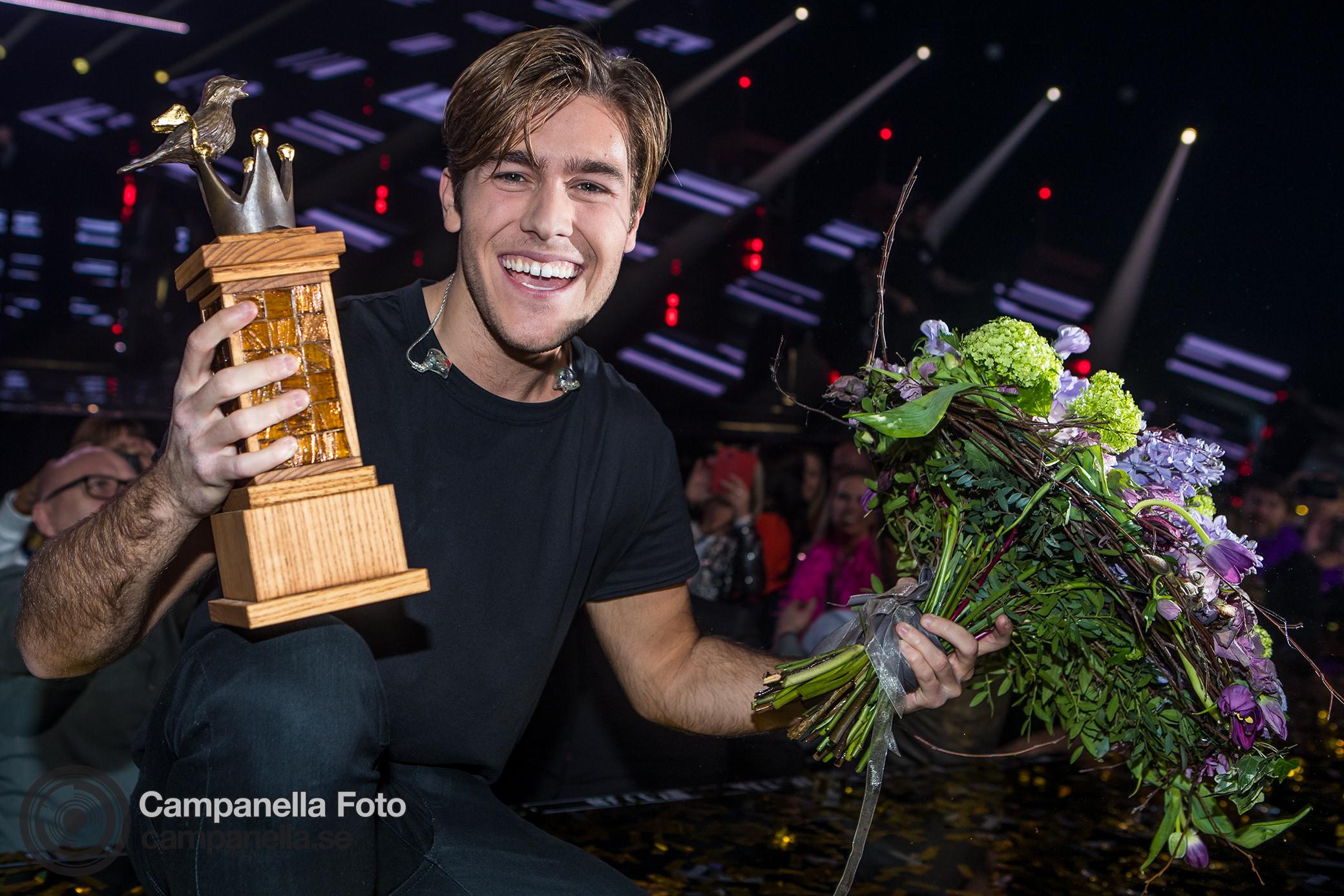Benjamin Ingrosso wins Melodifestivalen - Michael Campanella Photography